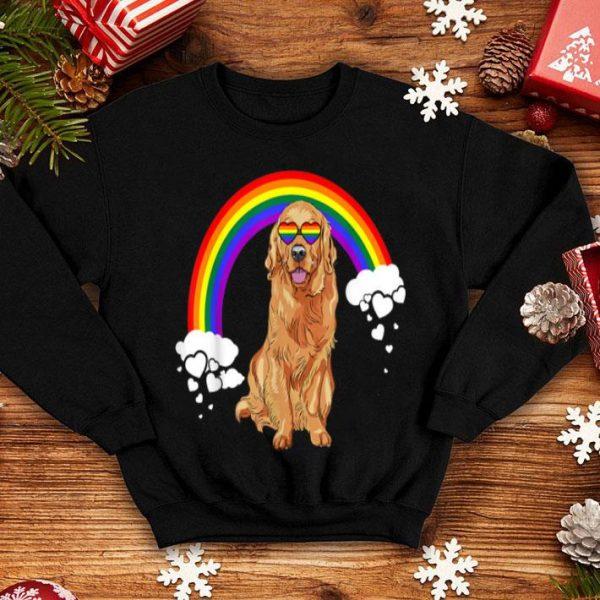 Rainbow Flag Retrievers Golden LGBT Pride Month shirt