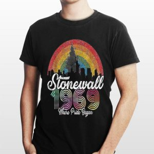 Rainbow Stonewall Riots 50th Nyc Gay Pride shirt