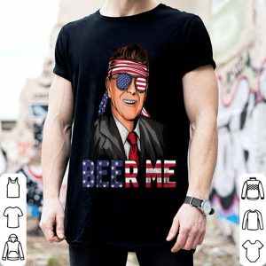 Ronald Reagan Beer Me American Flag Usa 4th Of July shirt