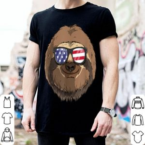Sloth Patriotic Usa 4th Of July American shirt