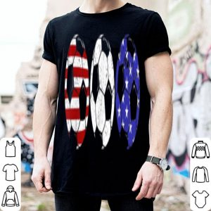 Soccer 4th Of July Red White Blue American Flag shirt