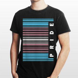 Transgender Pride Flag Barcode Lgb shirt