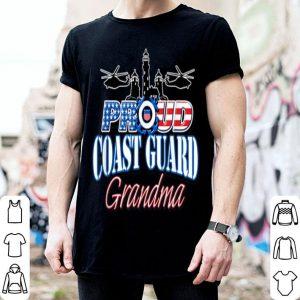 USA Proud Coast Guard Grandma USA Flag Military shirt