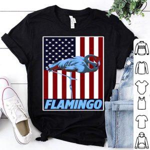 Usa Vintage Flag With Flamingo American Animal Bird Humor shirt