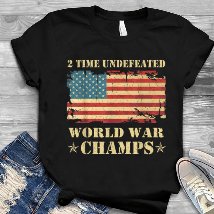 2 Time Undefeated World War Champs Ameican Flag Youth tee 1 - 2 Time Undefeated World War Champs Ameican Flag Youth tee