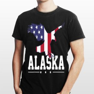 Alaska Eagle Usa Us American Merica Flag 4Th Of July shirt