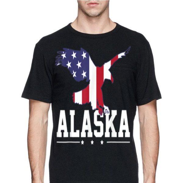 Alaska Eagle Usa Us American Merica Flag 4Th Of July shirt