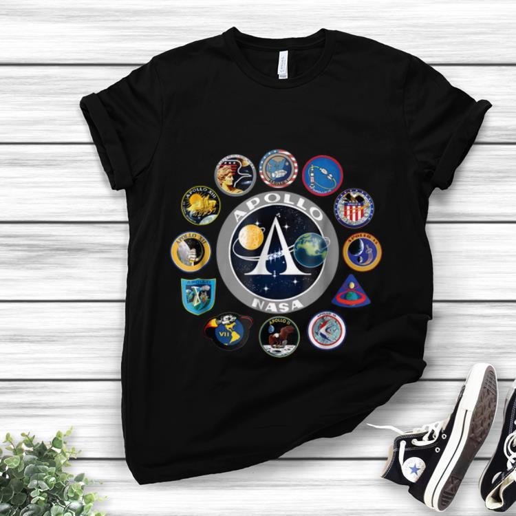 Apollo Missions Patch Badge Nasa American Circle Logo hoodie 1 - Apollo Missions Patch Badge Nasa American Circle Logo hoodie