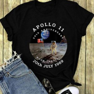 Astronaut Apollo 11 50th Anniversary Moon Landing American Flag 20th July 1969 long sleeve