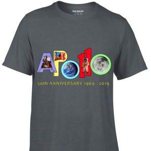 Awesome Apollo 50th Anniversary 1969 - 2019 American Flag Earth Moon Astronaut shirt