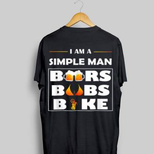 Beer Day i am a Simple Man Beer Boobs bike shirt