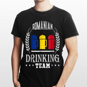 Beer Romanian Drinking Team Casual Romania Flag shirt