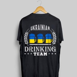 Beer Ukrainian Drinking Team Casual Ukraine Flag shirt