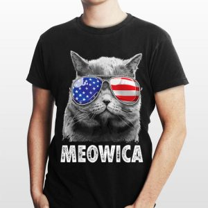 Cat 4Th Of July Meowica Merica Men Usa American Flag shirt