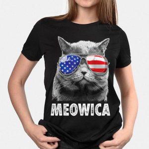 Cat 4Th Of July Meowica Merica Men Usa American Flag shirt