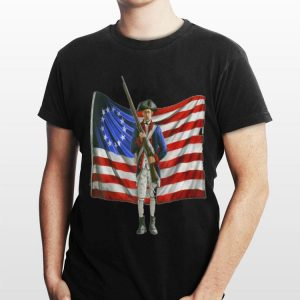 Colonial Flag 4Th Of July Independence Day American Eagle shirt