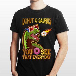 Cool Dinosaur Donut O Saurus Flying Donut Meteor shirt