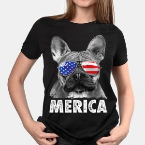French Bulldog 4Th Of July Merica Men Women Usa Flag shirt
