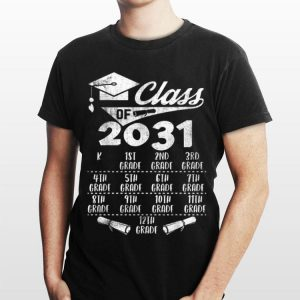 Grow With Me with space for checkmarks Class of 2031 shirt