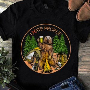 I hate people I eat people Bear Camping sweater