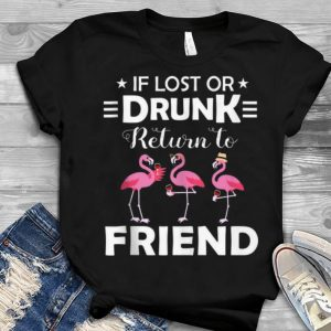 If Lost Or Drunk Please Return To Friend Flamingo Youth tee