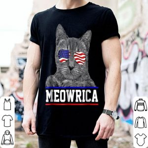 Meowrica Patriotic Cat In Sunglasses shirt