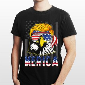 Merica Bald Eagle 4Th Of July Trump American Flag shirt