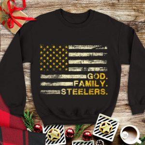 Nice Trend God Family Steelers Pro American Flag shirt