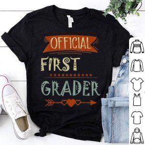 Official 1st Grader 1st Grade Back To School shirt
