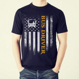 Original Bus Driver American Flag Patriotic shirt