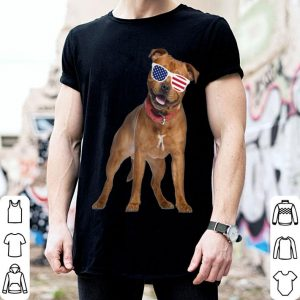 Staffordshire Pit Bull Terrier In Sunglasses 4Th Of July Dog shirt