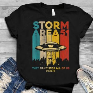 Storm Area 51 Vintage UFO They Can't Stop All Of Us Alien Youth tee