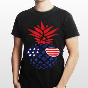 Sunglasses 4Th Of July Hawaiian Pineapple American Flag shirt
