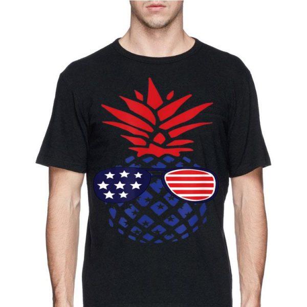 Sunglasses 4Th Of July Hawaiian Pineapple American Flag shirt