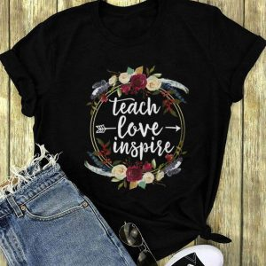 Teach Love Inspire Circle Flower long sleeve