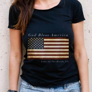 The Best God Bless American Lake Of the Wood Va Usa Flag shirt