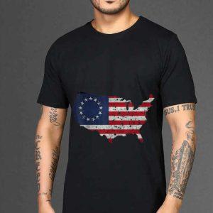 The best trend Betsy Ross Flag Apparel USA Shape Revolutionary War shirt