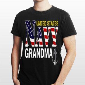 United States Flag American Navy Grandma Veteran shirt