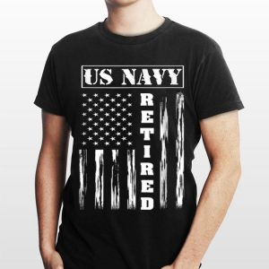 Us Navy Retired Distressed American Flag shirt