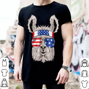 Usa Patriotic Llama July 4Th Alpaca shirt