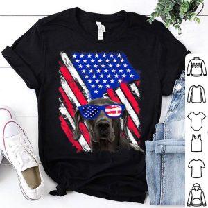 Vintage Great Dane Dog American USA Flag Distressed shirt