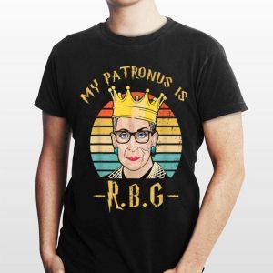 Vintage My Patronus Is Ruth Bader Ginsburg Rown Notorious shirt