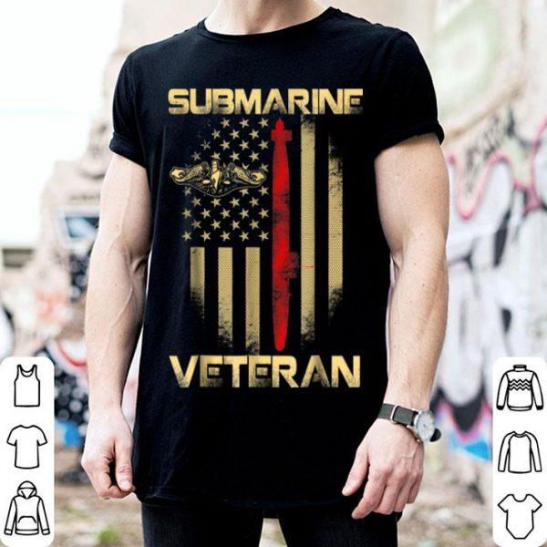 Vintage Submarine Veteran American Flag Vets shirt