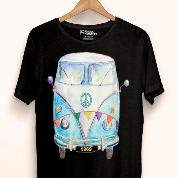 1969 Hippie Peace Van Campervan Colorful shirt