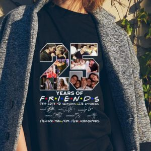 25 Years Of Friends Thank You For The Memories Signature sweater 1