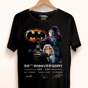 30th Anniversary 1989-2019 Jack Nicholson Michael Keaton Kim Basinger Signature Version shirt