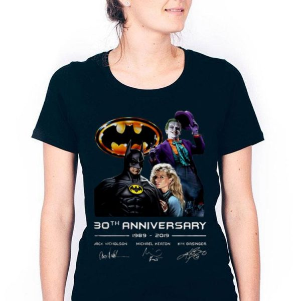 30th Anniversary 1989-2019 Jack Nicholson Michael Keaton Kim Basinger Signature Version shirt