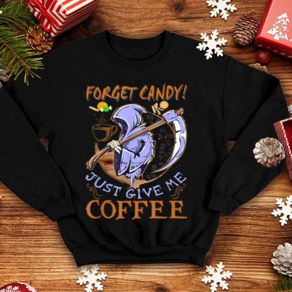 Awesome Coffee Lover Reaper Costume Funny Coffee Halloween Gift shirt