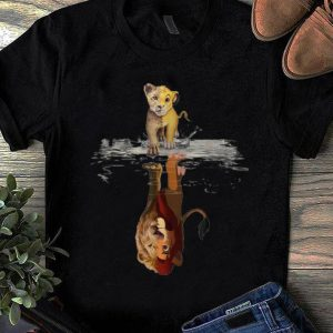 Awesome Disney Simba Lion King water mirror reflection Mufasa shirt
