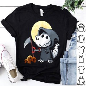 Awesome Grim Rex Reaper Skeleton Kids Halloween Death shirt